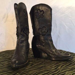 Shoes - Black Cowboys Boots